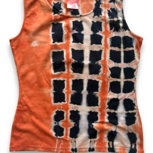 Orange Shade 3 Tie Dye Vest, Female Style, AfriNotes By Sanamo